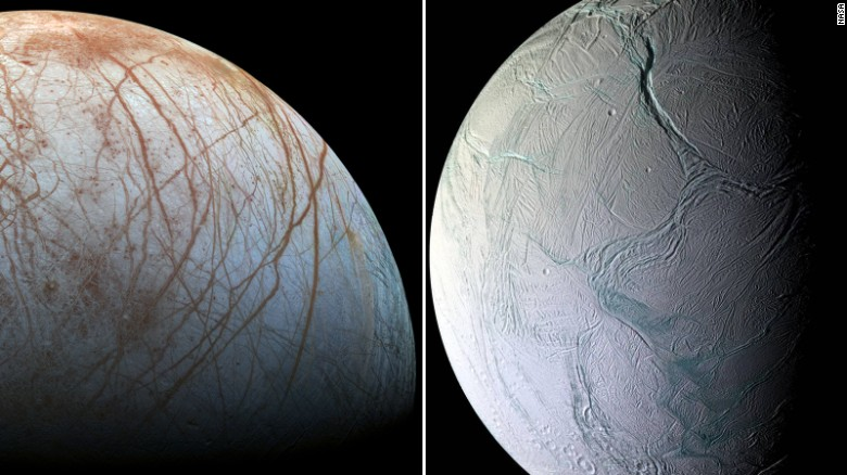 NASA: Jupiter and Saturn's moons could have life