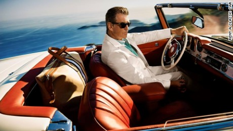 Pierce Brosnan Mercedes 250 SL Cannes