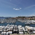 Cannes yachts harbour festival general view