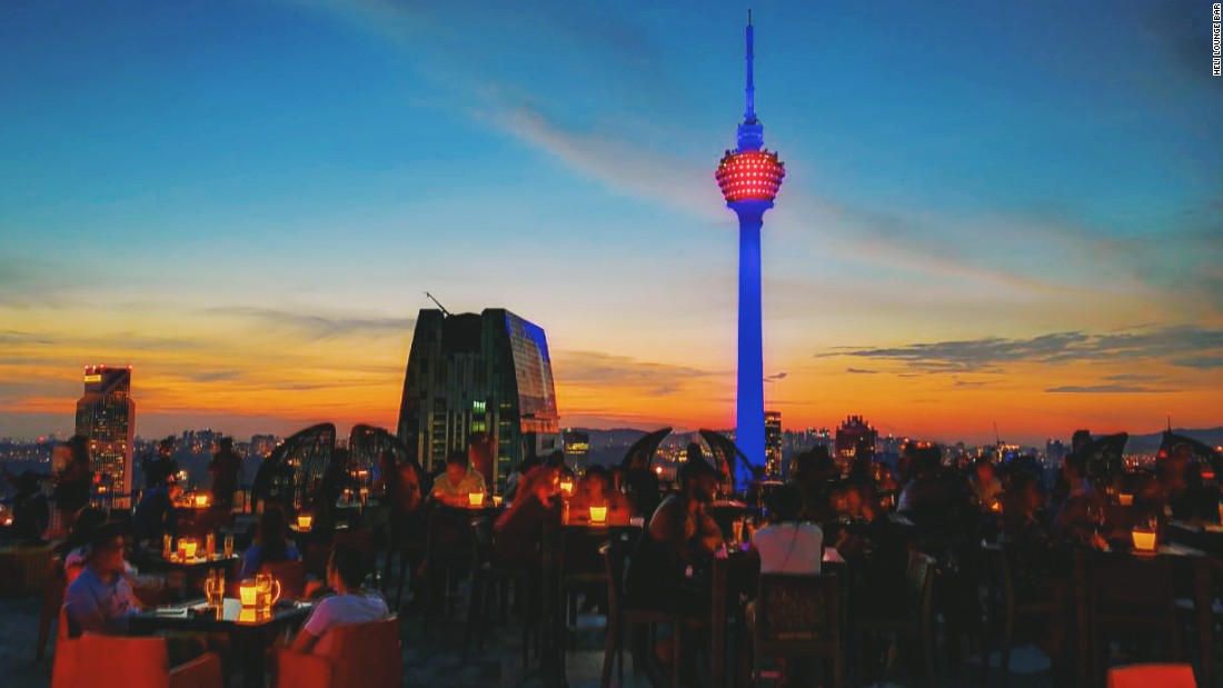 <strong>Heli Lounge Bar: </strong>The working helipad on the rooftop of Menara KH moonlights as Heli Lounge Bar from 6 p.m. every evening -- unless it rains. You can enjoy a 360-degree view of the city as the sun sets, unfettered by even safety barriers.