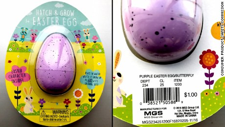 Target Hatch & Grow Easter Eggs with model number 234-25-1200 are recalled.