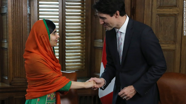 Watch: Malala becomes honorary Canada citizen