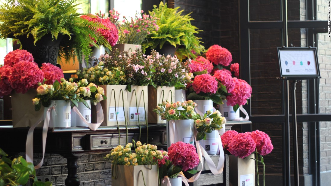<strong>The world's most beautiful floral hotels:</strong> If you fall in love with any of the gorgeous floral displays at the Pulitzer Amsterdam, stop by its flower shop to bring some of that magic back to your room.
