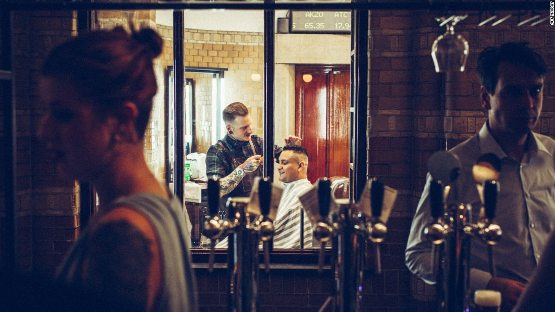 <strong>Scissors and snacks: </strong>A coffee and a hair trim is possible at Cut Throat, a barber with drinks and eats attached.