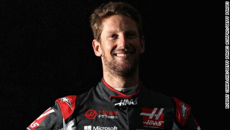 MELBOURNE, AUSTRALIA - MARCH 23:  Romain Grosjean of France and Haas F1 poses for a portrait during previews to the Australian Formula One Grand Prix at Albert Park on March 23, 2017 in Melbourne, Australia.  (Photo by Robert Cianflone/Getty Images)
