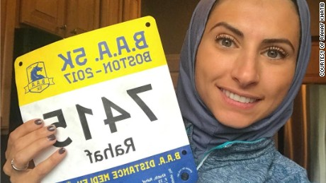 Rahaf Khatib garnered thousands of followers on Instagram after she appeared on the cover of Women's Running magazine.