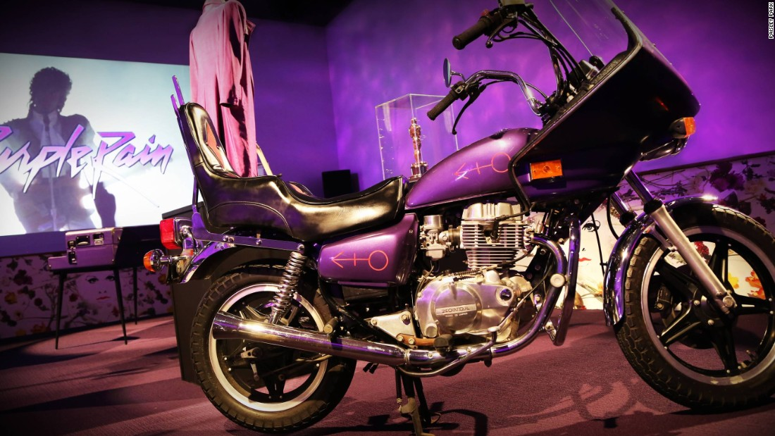 <strong>Purple Rain Room -- </strong>Once used for dance rehearsals, the Purple Rain room features a display of his most treasured memorabilia from the film -- the purple motorbike, the cloud guitar and the little purple piano.