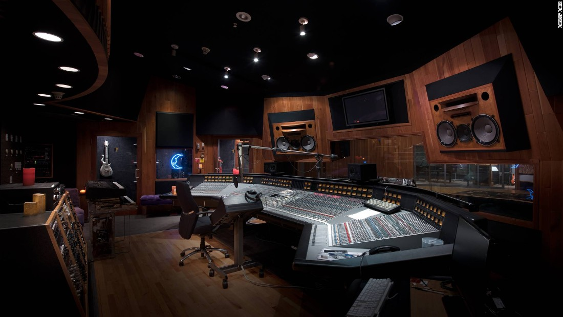 <strong>Studio A -- </strong>Studio A is where Prince recorded his last work. A microphone stand bends down towards his empty chair, with unfinished lyrics on the music stand.