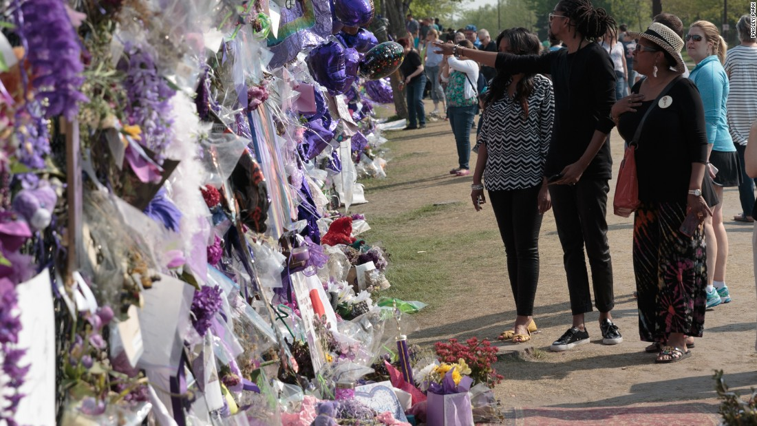 <strong>Tributes -- </strong>After his death, tributes from around the world were pinned to the fence that surrounds Paisley Park.
