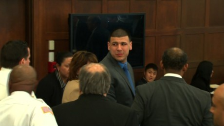 Aaron Hernandez became emotional after the verdict was read on Friday.