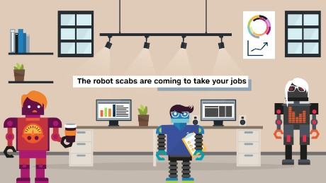 The robot scabs are coming to take your jobs