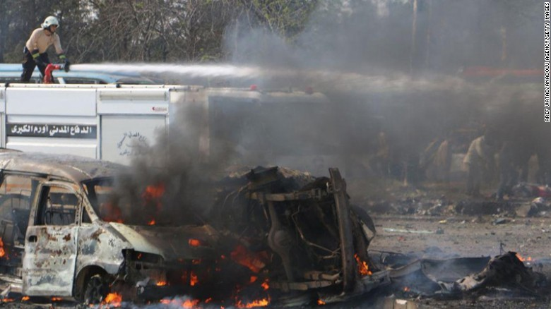 More than 100 Syrian evacuees killed in bus depot blast