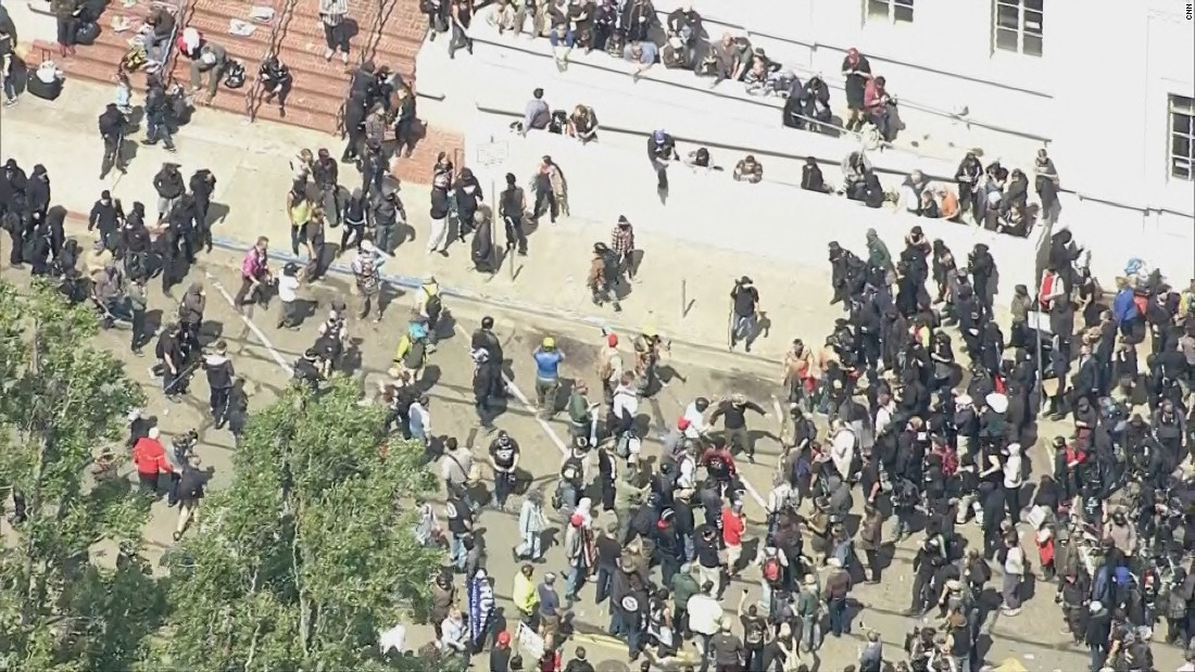 Fights break out at Calif. protests
