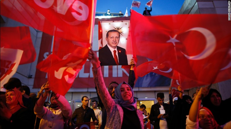 Thousands protest referendum result handing Turkish president greater powers