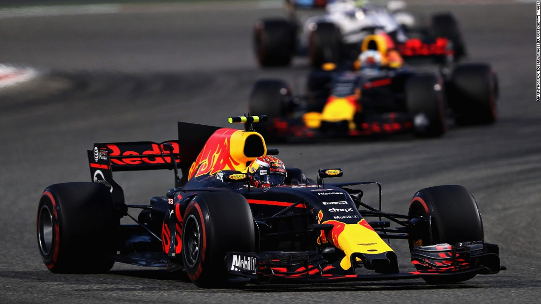 Red Bull's Max Verstappen retired from Sunday's race after suffering a rear brake failure on lap 12.