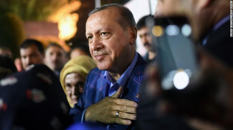 Turkish President declares victory