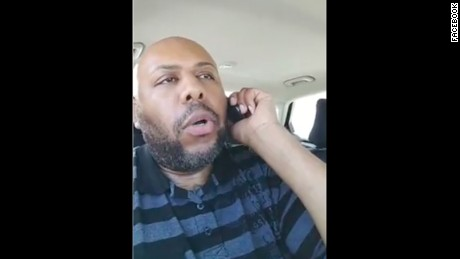 Steve Stephens in shown in a Facebook video on Sunday