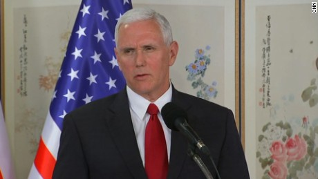 pence south korea joint presser