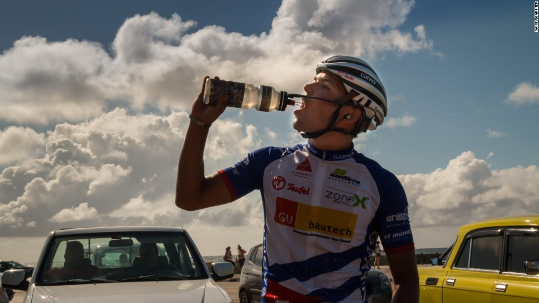Zurl will have to eat or drink 500 calories an hour during his Cuba ride.