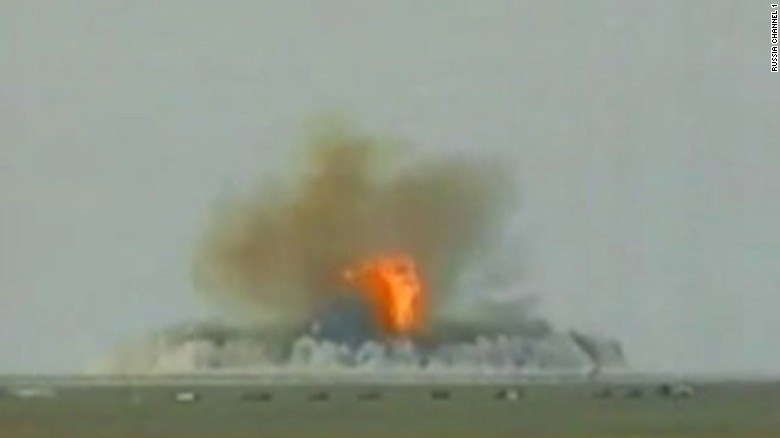 File footage from Russia's Channel 1 purports to show FOAB exploding during the first test.