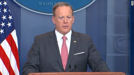 Sean Spicer holds the daily press briefing at the White House 0417.