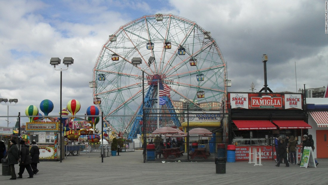 <strong>Coney Island:</strong> The iconic amusement park is home to the Wonder Wheel and wooden roller coaster The Cyclone.