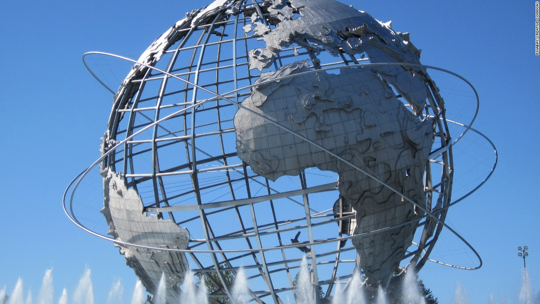 <strong>Unisphere:</strong> A remnant of the World's Fair, this giant silver statue of a globe is also a popular selfie backdrop in Queens' Flushing-Corona Park.