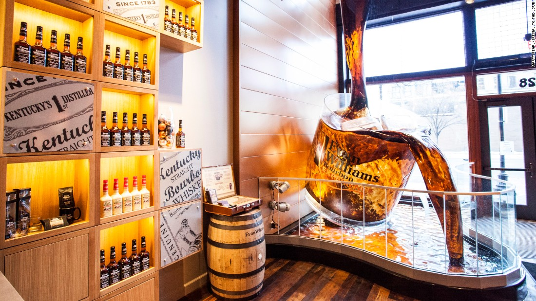 <strong>The local beverage:</strong> The Evan Williams Bourbon Experience is located on downtown Louisville's Whiskey Row. The venue offers tours and tastings tracing the city's bourbon history.