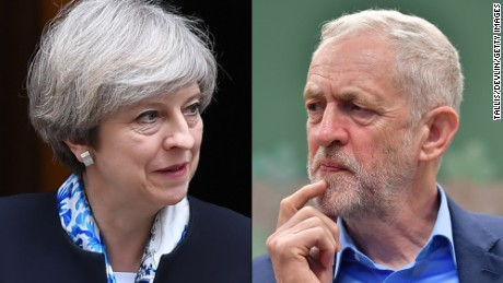 Prime Minister Theresa May and Labour Party leader Jeremy Corbyn