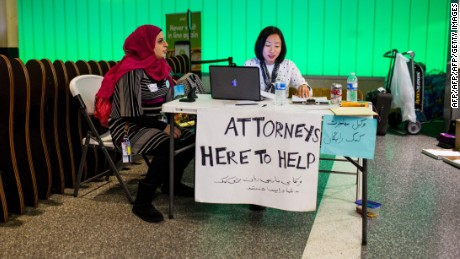 Volunteer lawyers have provided support for immigrants many US airports since the Executive Order.