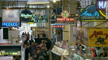 Grand Central Market has been selling fine food for 100 years.