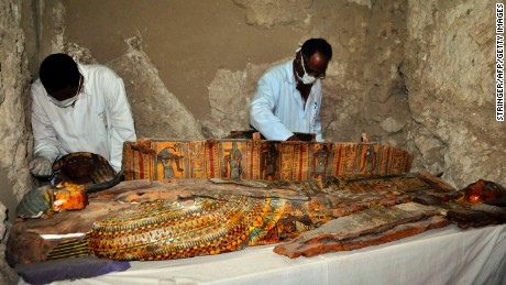 Egypt unearths 8 mummies in 3,500-year-old tombs