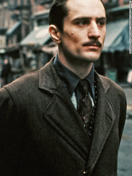 Robert De Niro performs a scene in The Godfather Part II directed by Francis Ford Coppola in 1974 in New York. (Photo by Michael Ochs Archive/Getty Images)