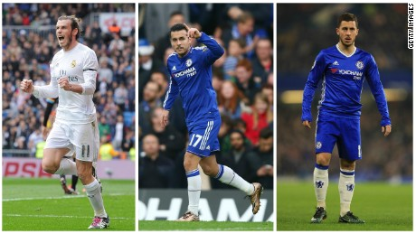 Gareth Bale is joined by Chelsea forwards Pedro and Eden Hazard in Xavi's list of the world's fastest players.