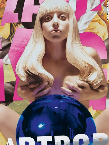 art: Jeff Koons / music: Lady Gaga / record: Artpop / year: 2013 / label: Interscope Records / format: Album 2×12˝, CD / artwork: Digital compositing / special: Limited-edition vinyl and CD. Initial copies in colored foil cover (hot pink, silver metallic)