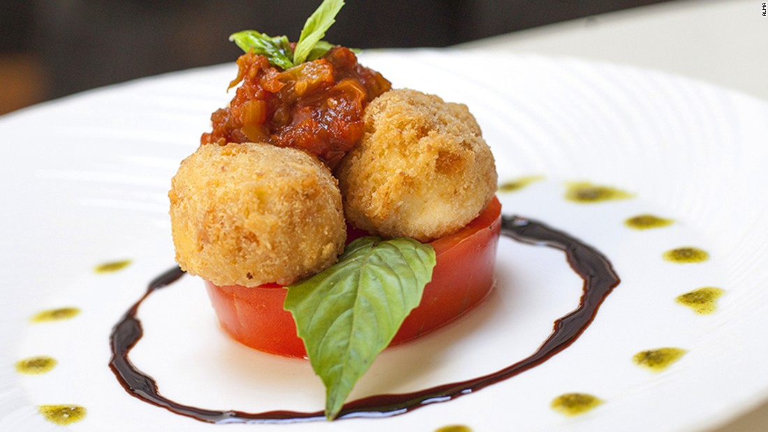 <strong>Alma:</strong>  Alma's 'Buffalo Mozerella' is a Colombian take on the traditional Caprese salad.