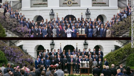 The Patriots go to Washington -- some of them, at least