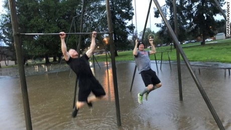 Kavinoky, right, does extreme workouts and has been working out four times a day to prepare.