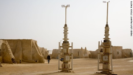 AKW3H3 The set of star wars film in the desert near Tozeur Tunisia