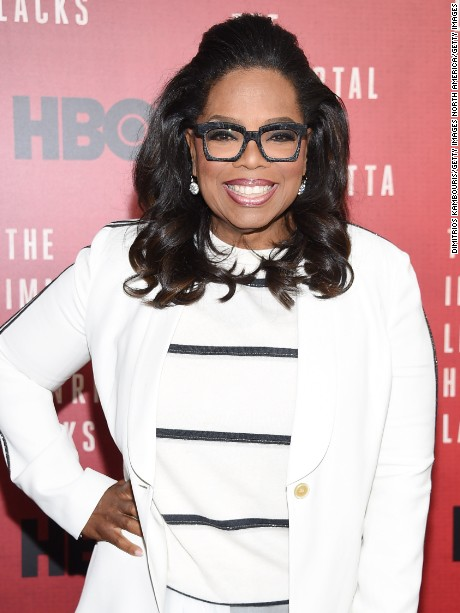 "NEW YORK, NY - APRIL 18:  Oprah Winfrey attends ""The Immortal Life of Henrietta Lacks"" premiere at SVA Theater on April 18, 2017 in New York City.  (Photo by Dimitrios Kambouris/Getty Images)"