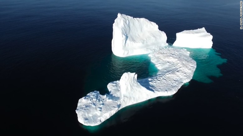 Watch: Huge iceberg grounded off small town
