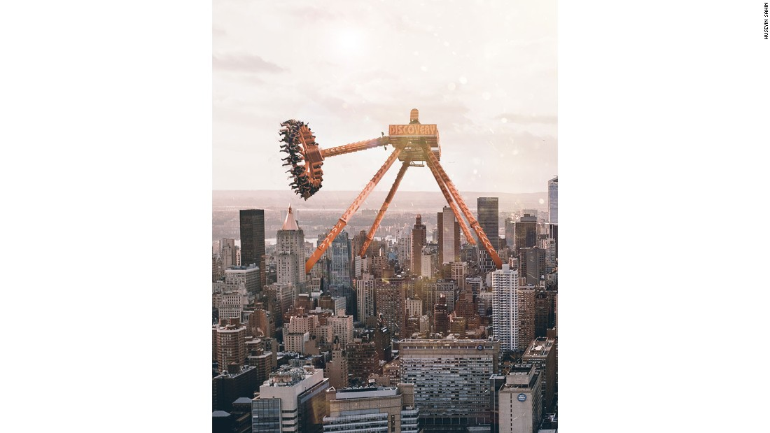 He posts all of his surreal images to Instagram.