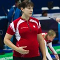 pregnant olympians Kristie Moore