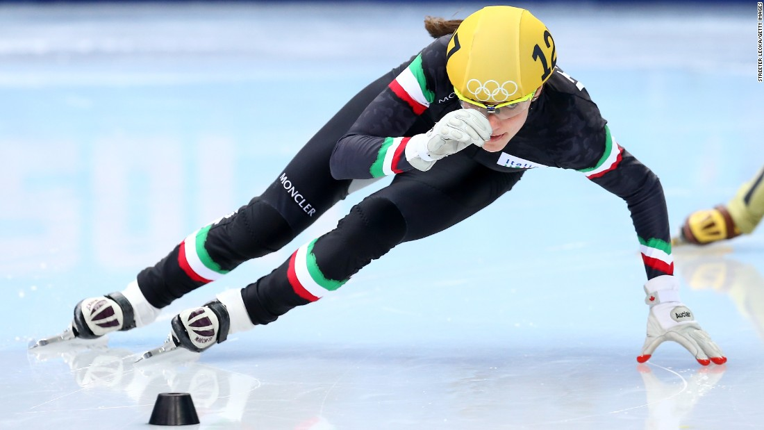 "Short-track speed-skater <a href=""https://www.olympic.org/martina-valcepina"" target=""_blank"">Martina Valcepina</a> represented Italy at the 2010 Olympic games in Vancouver at age 17 and returned to the Sochi Games in 2014. During the Sochi Games, she was carrying not one baby, but two. One month into her twin pregnancy, she brought home a bronze medal from Russia."