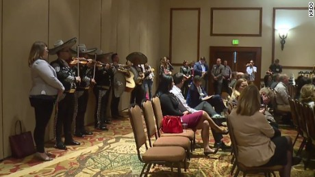 The members of the six-piece mariachi band played with one purpose in mind -- getting Gardner's attention.