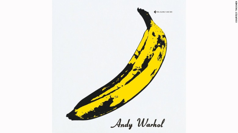 "<a href=""http://www.warhol.org/""  Warhol</a>'s banana-sticker cover for The Velvet Underground and Nico is one of the most enduring images of '60s rock 'n' roll. (Underneath the banana peel is a pink banana.)"