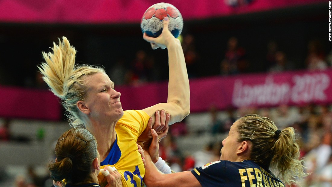 "Swedish handball player<a href=""http://www.eurohandball.com/article/017823/Johansson+looking+forward+to+international+comeback"" target=""_blank""> Anna-Maria Johansson</a> competed in the London Games in 2012 while three months pregnant. Following her intense participation in the games, she took a year off to become a mom and then returned to her sport."