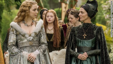 "Jodie Comer and Michelle Fairley star in ""The White Princess."""
