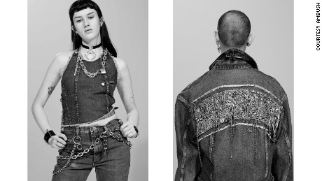 Denim pieces featured prominently in AMBUSH's fall/winter 2016 collection.