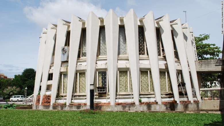 The movement was ended by the savage Khmer Rouge regime which devastated the country. Many of Molyvann's buildings remained survived this period, however, such as the Institute of Foreign Languages (IFL), pictured here, which was built in 1971.